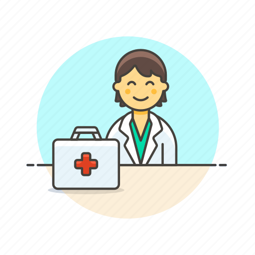 care, doctor, health, help, hospital, medical, woman icon