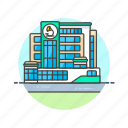 center, health, hospital, laboratory, medicine, research, science icon