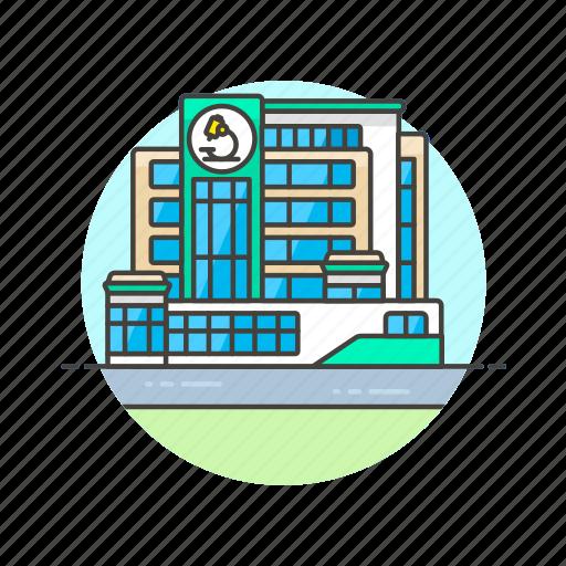 center, health, hospital, laboratory, medicine, research, science icon