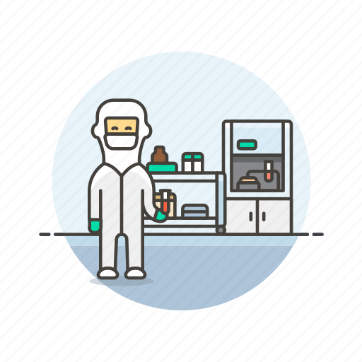 health, hospital, medical, protective, research, scientist, study icon