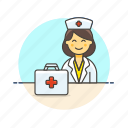 care, health, help, hospital, medical, nurse, woman icon