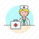 aid, care, first, health, help, hospital, medical, nurse icon