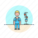 care, health, help, hospital, man, medical, nurse icon