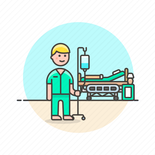 bed, care, health, help, hospital, medical, patient, treat icon