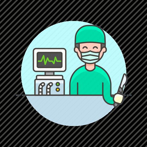 care, cut, health, help, hospital, medical, monitor, surgeon icon