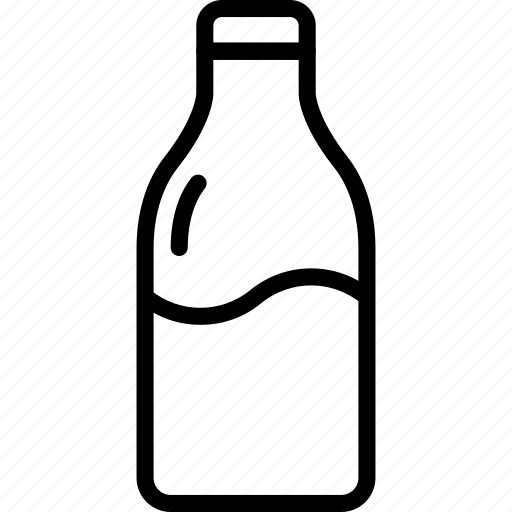 bottle, drink, fitness, health, milk, nutrition icon
