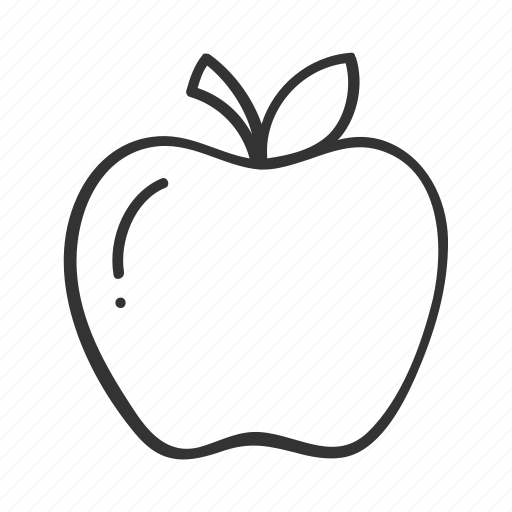 apple, doodle, fitness, fruit, hand drawn, health icon