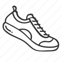 doodle, fitness, hand drawn, health, running, shoe, sneaker icon
