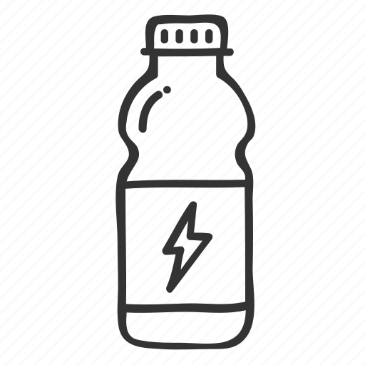 bottle, doodle, drink, energy drink, fitness, hand drawn, health icon