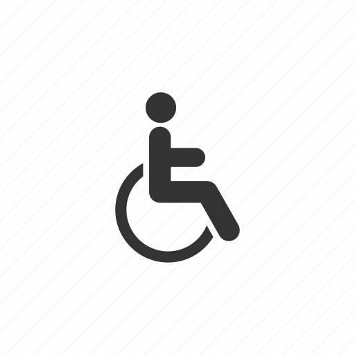 disabled, emergency, handicapped, health, hospital, person, stick figure, wheelchair icon