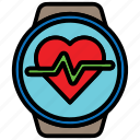 gadget, healthandcare, heartrate, smartwatch, technology, wristwatch icon