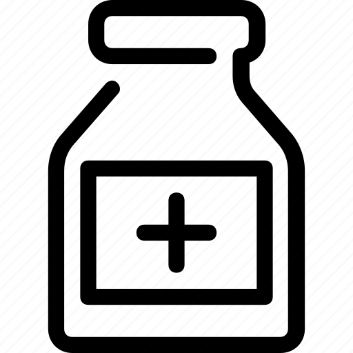 bottle, drug, health, medical, pharmacy, remedy, tablet icon