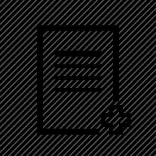 health data, health documentation, medical record, medical records, sheet icon