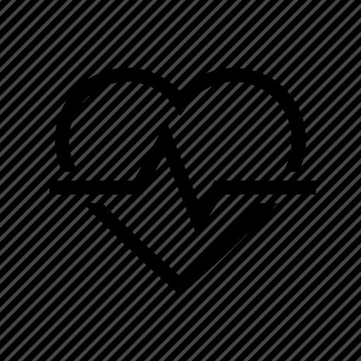 health, healthcare, heart, heartbeat, medical, pulse icon