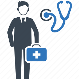 doctor on duty, first aid, medical assistance, medical help icon