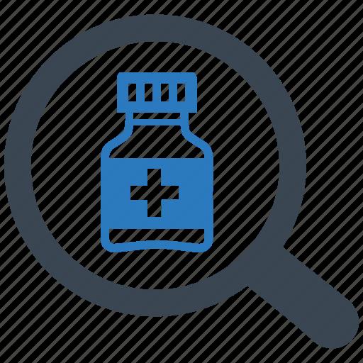 drug, find, medicine, search, tablets icon
