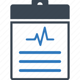 checklist, clipboard, diagnosis, medical report, paper, report icon