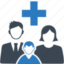 family medicine, healthcare, medical help icon