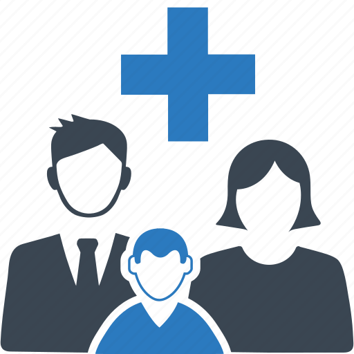 family medicine, healthcare, medical help icon