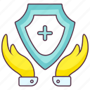healthcare protection, medical protection, medical shield, medical support, secure medical, secure shield icon
