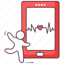 health app, medical app, mobile app, mobile health, online healthcare icon