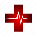 ambulance, beat, cross, hospital, medical icon