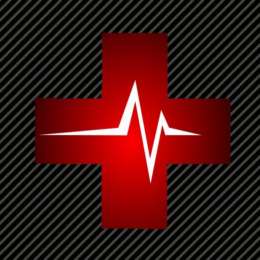ambulance, beat, cross, hospital, medical icon