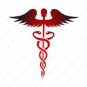 asclepious, caduceus, health, healthcare, medical icon
