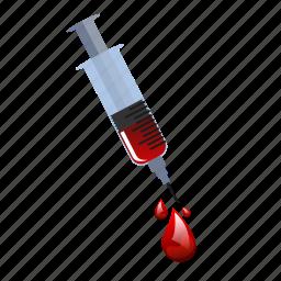 blood, flu, medical, needle, shot, syringe, vaccine icon