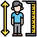height, meter, tall, scale, measurement