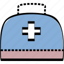 portfolio, suitcase, treatment icon