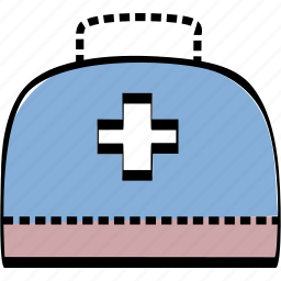 portfolio, suitcase, treatment icon