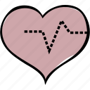 health, heart, pulse icon