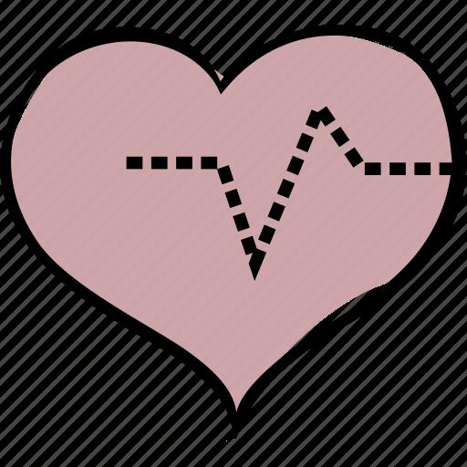 health, heart, pulse icon