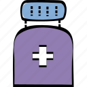 health, medicine, pills, treatment icon
