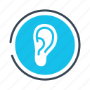 ear, hearing, problems icon