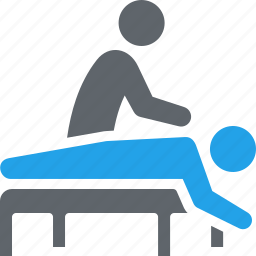 massage, physical medicine, physiotherapy, rehabilitation, treatment icon