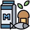 diet, fish, food, fruit, healthcare, healthy, vegetables icon