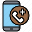 call, care, clinic, emergency, health, tools, utensils icon