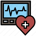 electronics, heart, heartbeat, monitor, pulse, rate, scanner icon