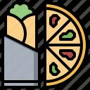 fast, food, junk, no, pizza, wrap icon