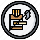 cigarette, no, prohibition, signaling, smoke, smoking, warming icon