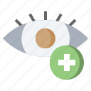 care, eye, health, medical, ophthalmology, optical, sight icon
