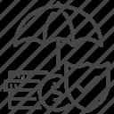 finance, health, insurance, money, protection, savings icon