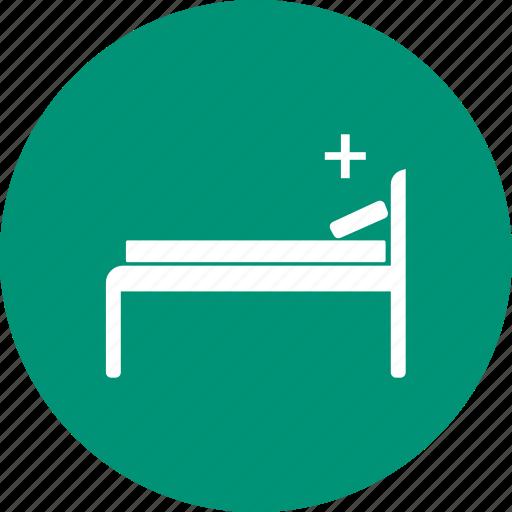 bed, hotel, single, sleep icon