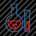 beaker, flask, lab, laboratory