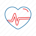 beat, health, heart, like, love icon