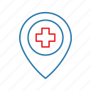 health, hospital, location, medical icon