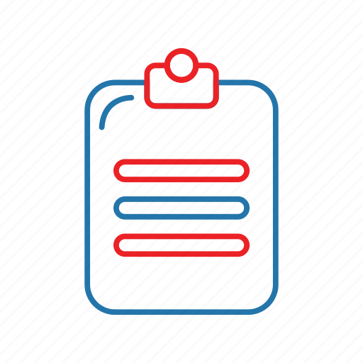 checklist, clipboard, list icon