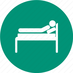hospital bed, hospital stretcher, patient bed, stretcher icon